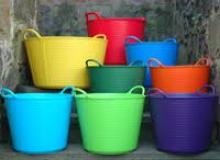 Colorful Garden Tubs