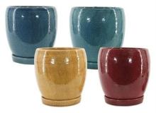 Micheal Carr Egg Pots w/ Saucer