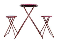 Continental Art Bistro Table & Stools