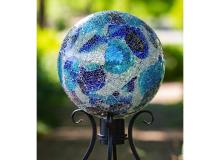 Evergreen Crackle Glass Blue Mosiac