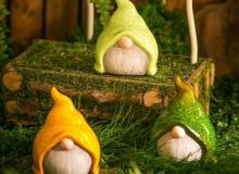 Evergreen Ceramic Gnomes