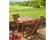 Evergreen Eucalyptus Wood Bistro Table Set