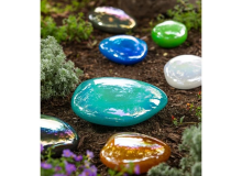 Evergreen Glass Stepping Stones