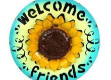 Galton Welcome Sunflower Sign