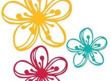 Napco Bright Flowers