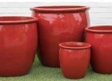 Pottery Paradise Sunrise Red