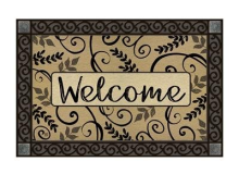 Studio M Leafy Scroll Welcome