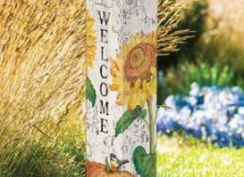 Studio M Farmhouse Sunflower Post