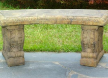 Unique Stone Curved Bench