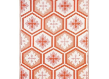 Evergreen Coral Hex Rug