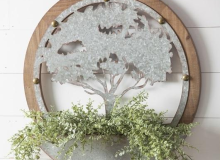 Evergreen Round Metal Tree
