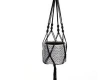 Napco Black Macrame Braided Hanger