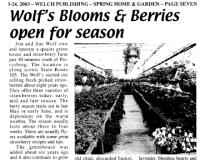 Perrysburg Sentinel April 2003